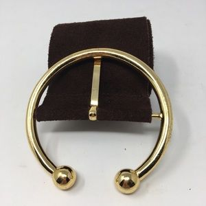 WIDE BROWN SUEDE Belt with Gold Tone Buckle